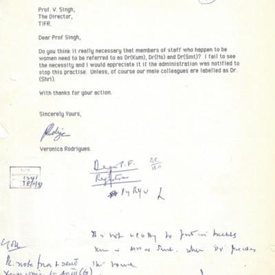 1991 VR to V Singh - kumari ban.jpg