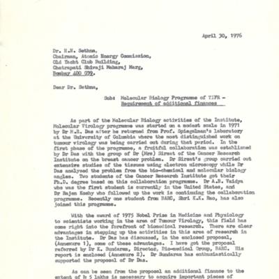 1976 Apr 30 D-2004-01232-(15-01) Sreekantan to govt - virology $.tif
