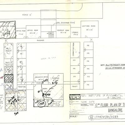 1995 1st Floor Plan of TIFR at Bangalore.tif